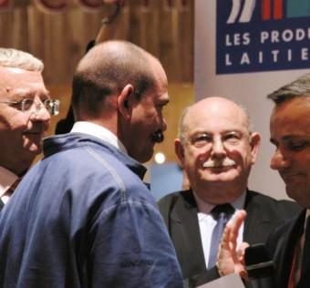 Roland Barthélémy président des MOF félicite Bernard