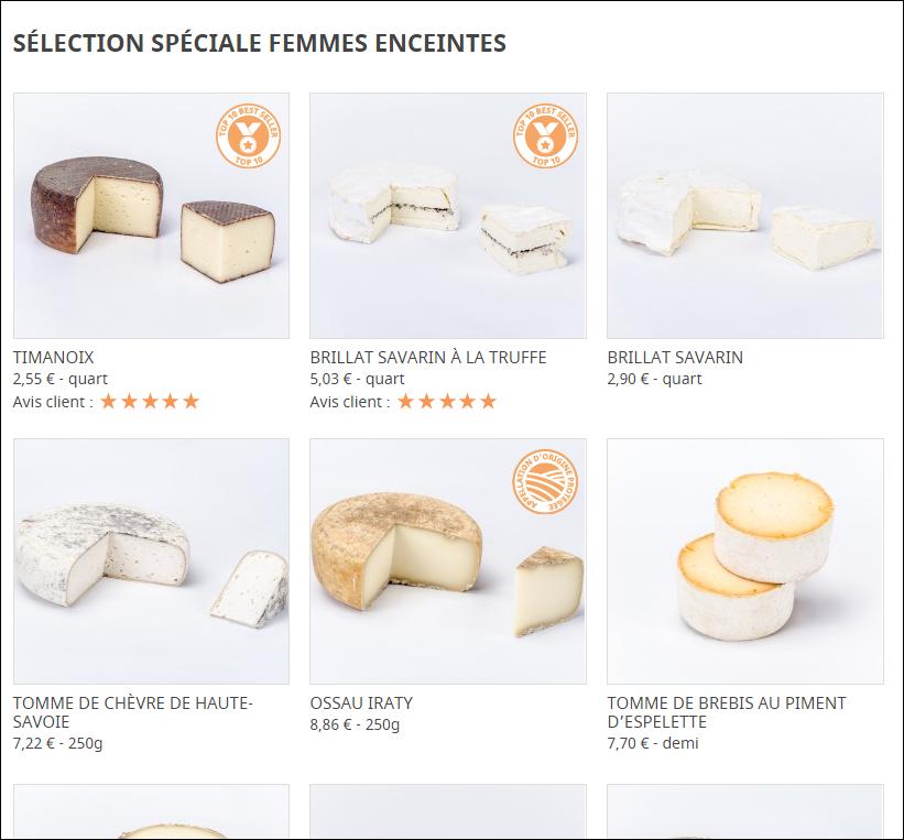 fromagerie les alpages 187 quels fromages manger pendant la grossesse